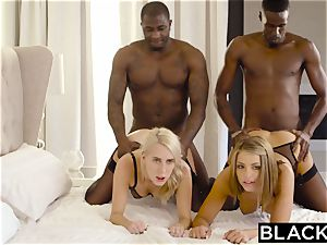 BLACKED Adriana Chechik and Cadence Lux very first interracial four way