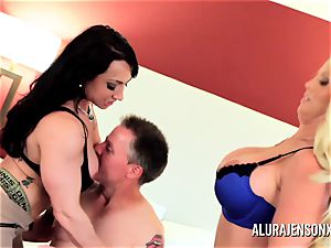 Alura Jenson milf three-way penetrate with Brandi May