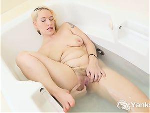 yanks blond Bridgette Aleister jerks