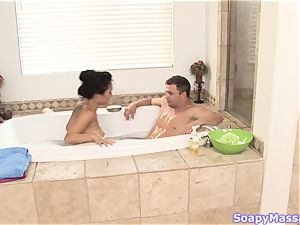 chinese hottie Asa Akira as the Soapy rubdown Parlour