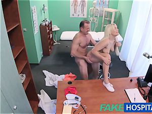 FakeHospital doctor helps platinum-blonde get a wet gash