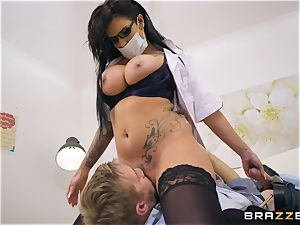 Candy Sexton blowing on Danny D