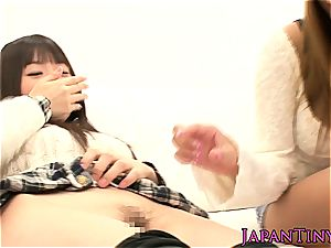 little young chinese stunners finger-tickled and pummeled