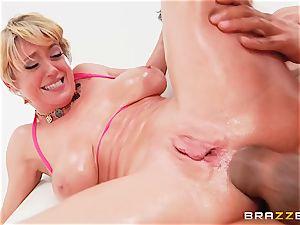 Dee Williams fucked ballsack deep in her ass