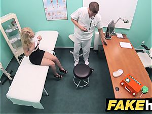 fake polyclinic smallish light-haired Czech patient health test