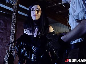 Danny D fools around as Geralt and plows black-haired honey