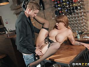Danny plunging his humungous man meat into super-steamy red-haired