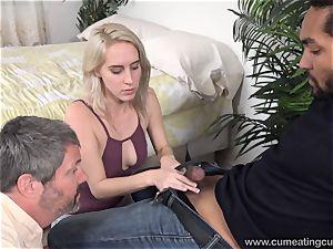 Cadence Lux Makes puss husband gobbles fellows jizz