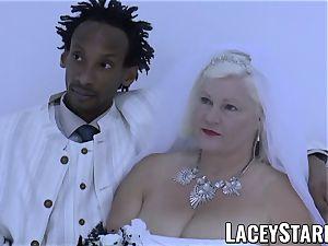 LACEYSTARR - granny bride fed with jism after boning