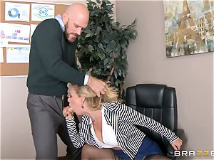 milf chief Cherie Deville gets shafted by a immense dicked employee