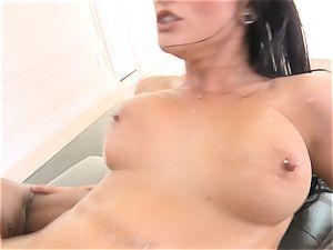 Creaming inwards fantastic brunette Katrina Jade