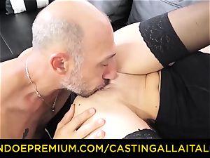 audition ALLA ITALIANA - messy novice anal casting