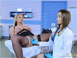 crazy patient Phoenix Marie girly-girl drill with Dani Daniels