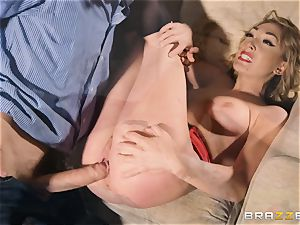 Lily Labeau takes on the monster salami of porno set PA