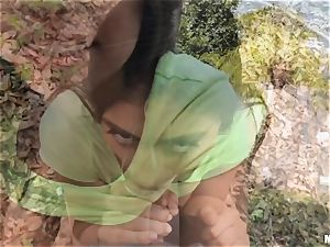 big-chested yam-sized bosoms Ella Knox boned in public