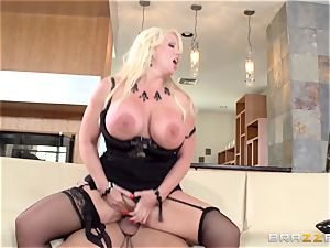 sloppy cougar Alura Jensen pulverizes her daughters-in-law dude