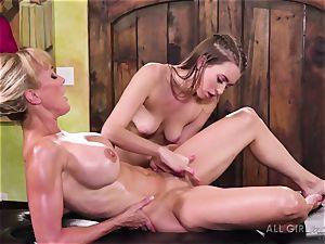 Jill Kassidy makes her hot milf client Brandi love orgasm