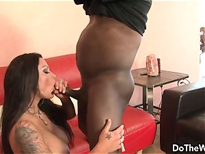 steamy cougar adult movie star takes hefty black penis for husband