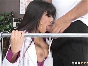medic Mercedes Carrera works wonders with her titties