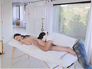 Jennifer Jacobs gets revved on by the killer massagist