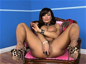 uber-sexy Lisa Ann tucks her fuck stick deep in her humid cooter