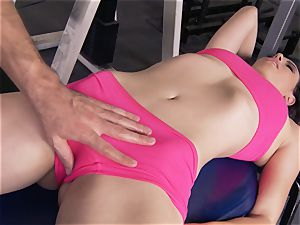 Gym honey Casey Calvert luving her workout