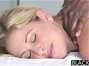 BLACKED super-steamy Southern blondie Takes meaty dark-hued knob