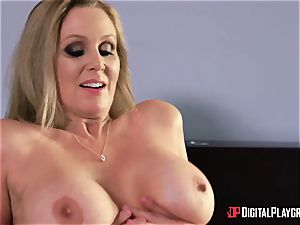 fucky-fucky with huge-titted housewife Julia Ann and her stepdaughter