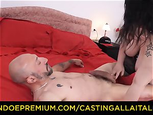 audition ALLA ITALIANA rock-hard anal invasion bang-out with Italian plus-size