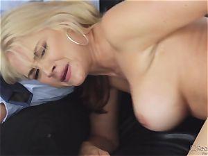greedy wifey Sarah Vandella gets her appetite suppressed by big black cock