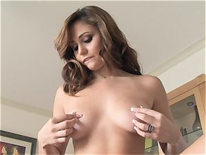 succulent Ariana Marie softcore solo getting off