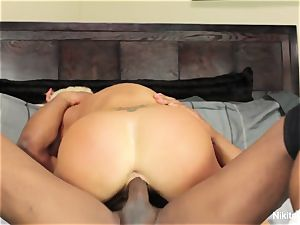super-fucking-hot towheaded cougar gets a phat dark-hued hard-on to have fun with