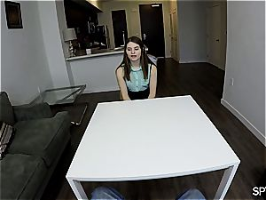 Alice March riding cock in point of view
