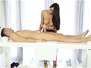 super-sexy masseur stroking timid boy