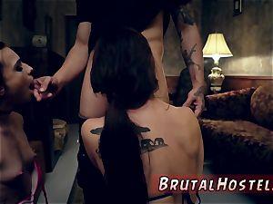 defenseless restrain bondage and extraordinary snatch spreading dildo xxx best buddies Aidra Fox and Kharlie