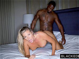BLACKEDRAW blondie trophy wifey Cucks Her hubby With big black cock
