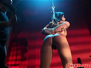 cropped Chanel Preston penetrated while tiedup