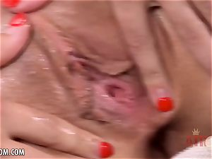 bony Emily Blacc touches her humid labia for you