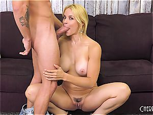 Sarah Vandella romps on cam and playthings her slit to ejaculation