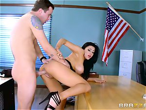 horny lecturer Audrey Bitoni gets a prick in detention