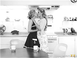 Aaliyah enjoy and Cherie Deville go back in time
