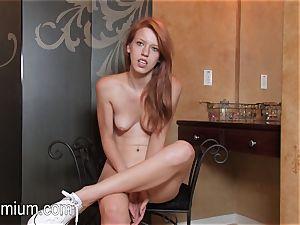 Pepper Kester shows her assets at an interview
