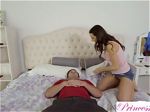 Lily Adams smashes her horny stepbrother