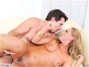 18-year-old nymph gets her oily booty boned by Manuel Ferrara