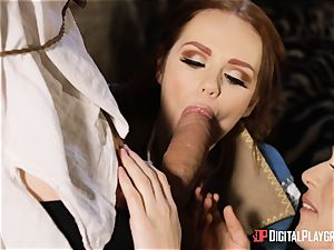 babes Ella and Olive dream ravage with monster prick