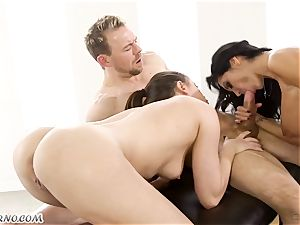 torrid lovemaking with a huge-boobed porno starlet Ava Addams and Casey Calvert
