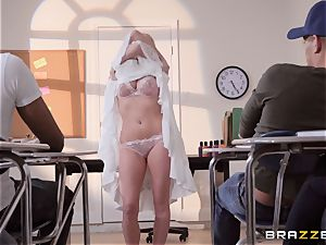 Christie Stevens arched over and pummeled doggie-style