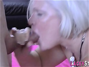huge-chested gang pulverized granny