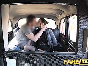 fake cab Czech damsel covets a rock hard meatpipe