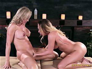 Carter Cruise and Brandi enjoy in girl-on-girl pornography